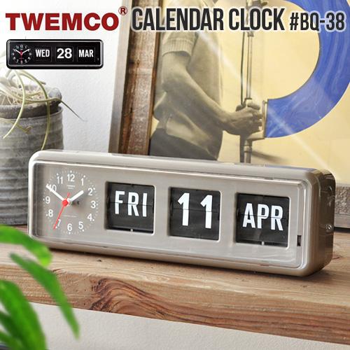 送料無料 置き時計 おしゃれ アナログ 壁掛け時計【あす楽14時まで 置き時計】トゥエンコ レトロ カレンダークロックTWEMCO おしゃれ CALENDAR CLOCK #BQ-38パタパタ時計 置き掛け兼用時計 フリップカレンダー レトロ アンティーク◇ インテリア ミッドセンチュリー カフェ シンプル, カマガリチョウ:26024ce0 --- jpscnotes.in