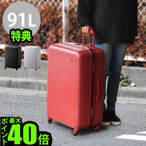 送料無料 スーツケース キャリーケース 大容量【あす楽14時まで】P10倍 ±0 SUITCASE スーツケース《91L》特典付 静音 静穏 軽量 TSAロック キャリーバッグ トランク おしゃれ マクロロン◇ポリカーボネート 特許取得 旅行グッズ