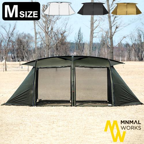 テント カマボコテント ファミリーテント 送料無料 正規品ミニマルワークス MINIMAL WORKS V HOUSE M / シェルター[MGSH-VH402-GO0OL]アウトドア キャンプ ドームテント 2ルームテント◇タープテント グランピング 収納バッグ付き