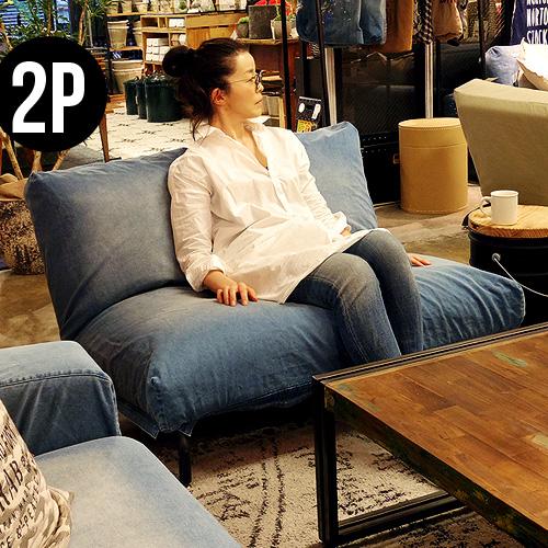 2人掛けソファ おしゃれ【メーカー直送品】ジャーナルスタンダードファニチャー ロデチェア デニムjournal standard Furniture RODEZ CHAIR 2P DENIM (E) 2人掛けソファー リクライニング◇ソファ ソファー plywood