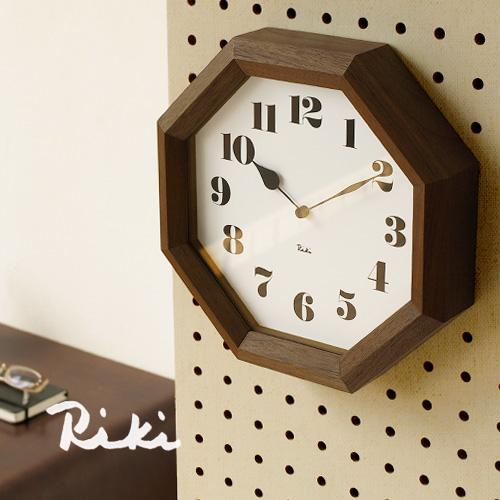 【あす楽14時まで】 送料無料 [ 時計 壁掛け 掛け時計 ] riki watanabe 八角の時計 WR11-01 lemnos レムノス 時計 掛け時計 おしゃれ riki clock 【楽ギフ_メッセ】【楽ギフ_のし】【smtb-F】 F