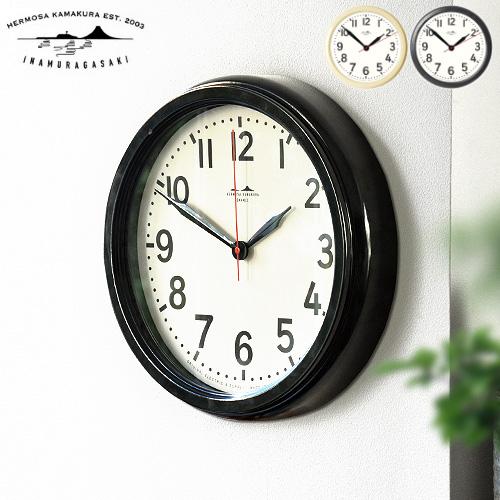 \MAX47倍/送料無料 掛け時計 おしゃれ 音がしない 壁掛け時計 琺瑯【あす楽14時まで】ハモサ HK ホーロー クロックHERMOSA HK HORO CLOCK[HK-001]かわいい シンプル プレゼント 日本製 静か 人気