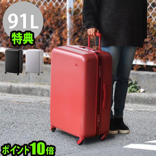 送料無料 スーツケース キャリーケース 大容量【あす楽14時まで】P10倍 ±0 SUITCASE スーツケース《91L》特典付 静音 静穏 軽量 TSAロック キャリーバッグ トランク おしゃれ マクロロン◇ポリカーボネート 特許取得 旅行グッズ F