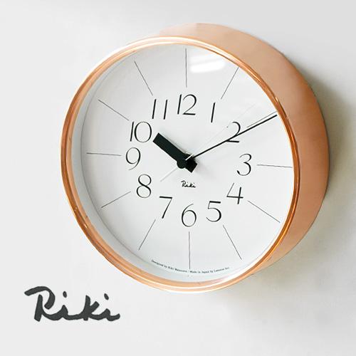 【あす楽14時まで】 送料無料 [ 時計 壁掛け 掛け時計 ] riki watanabe 銅の時計 WR11-04 lemnos レムノス 時計 掛け時計 おしゃれ 連続秒針 音がしない riki clock 【楽ギフ_メッセ】【楽ギフ_のし】【楽ギフ_のし宛名】【smtb-F】(T)