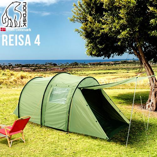\MAX37倍/送料無料 正規品 NORDISK P10倍ノルディスク レイサ4 Nordisk Tents Reisa 4 グリーンインナーテント グランピング キャンプ アウトドア ブランド 雨よけ 北欧 大型 フェス キャンプ用品