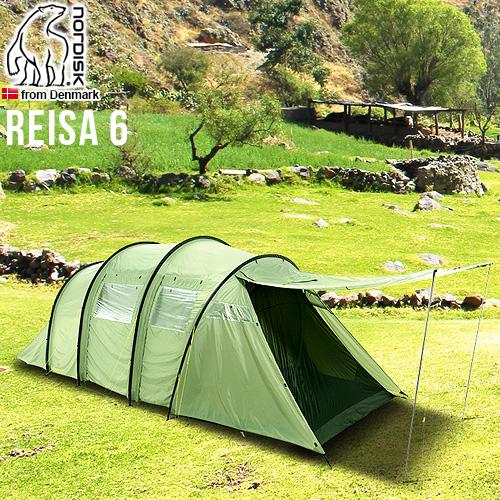 送料無料 正規品 NORDISK P10倍ノルディスク レイサ6 Nordisk Tents Reisa 6 グリーンインナーテント グランピング キャンプ アウトドア ブランド 雨よけ 北欧 大型 フェス キャンプ用品◇