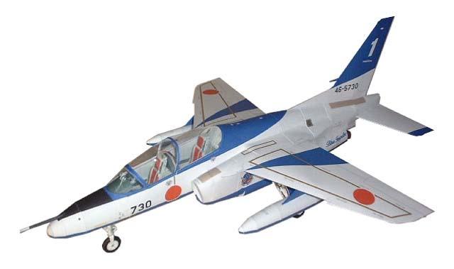 半額 1 50スケール 紙で作る模型 キット 紙工作 航空自衛隊 T-4 ブルーインパルスペーパークラフト 50 ジェット機 pc5 安心の定価販売 飛行機 紙模型 戦闘機 航空機