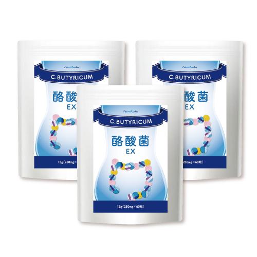 酪酸菌 らくさんきん サプリ サプリメント 錠剤 『酪酸菌 EX 60粒 3個セット』