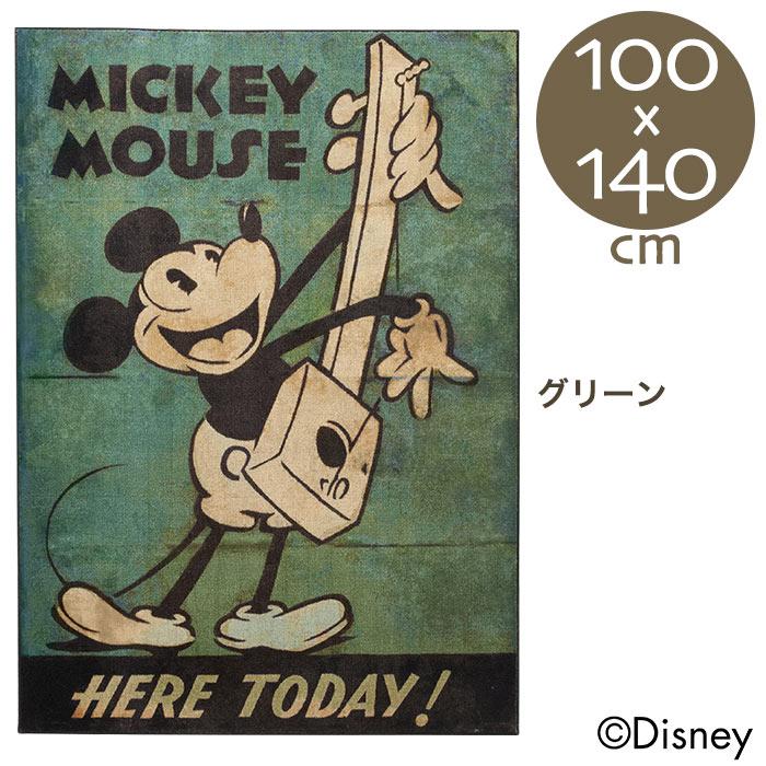 【ポイント2倍!エントリーで6倍 ~8/9 1:59限定】ディズニー ミッキー ミュージックラグ 100×140cm