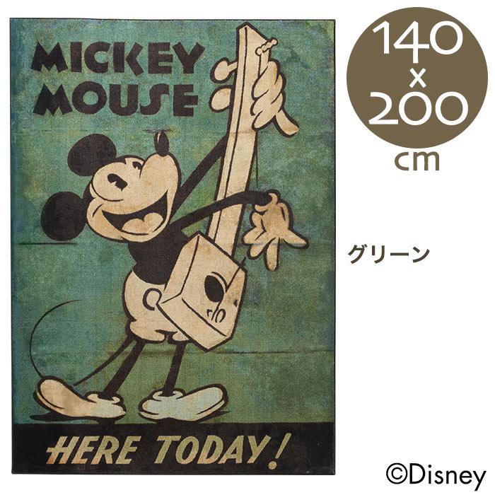 ラグ ラグマット ディズニー ミッキー ミュージックラグ 140×200cm 【送料無料 ※沖縄・離島のぞく】