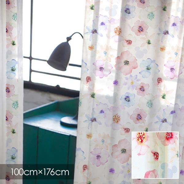 既製カーテン ディズニー 「ミッキー アロマ」 100×176cm シアーカーテン