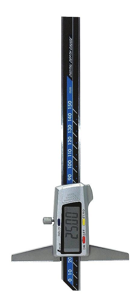 シンワ測定 デジタルデップスゲージ 150mm ホールド機能付 19306