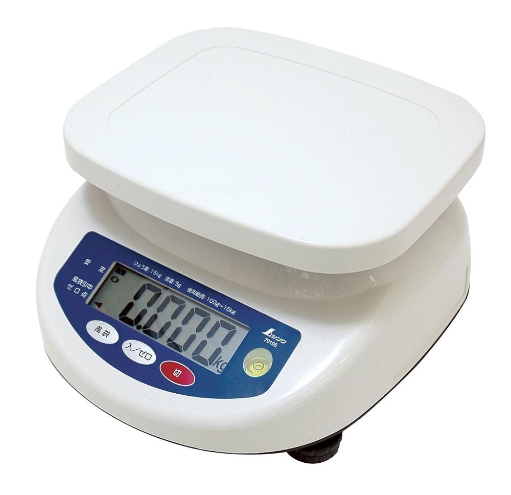 【ポイント2倍!エントリーで6倍 ~4/16 01:59限定】 シンワ測定 デジタル上皿はかり 15kg 取引証明以外用 70106