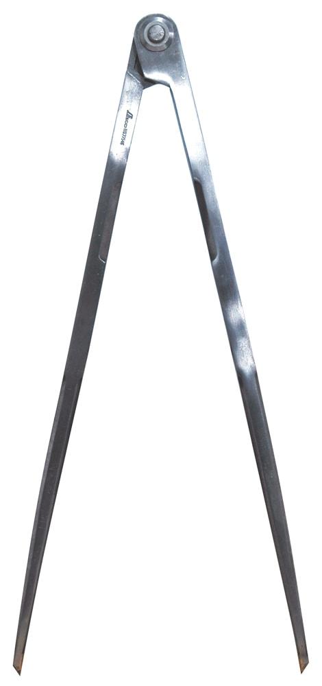 【ポイント2倍!エントリーで6倍 ~4/16 01:59限定】 シンワ測定 鋼製コンパス F-2 40cm 超硬チップ付 77546