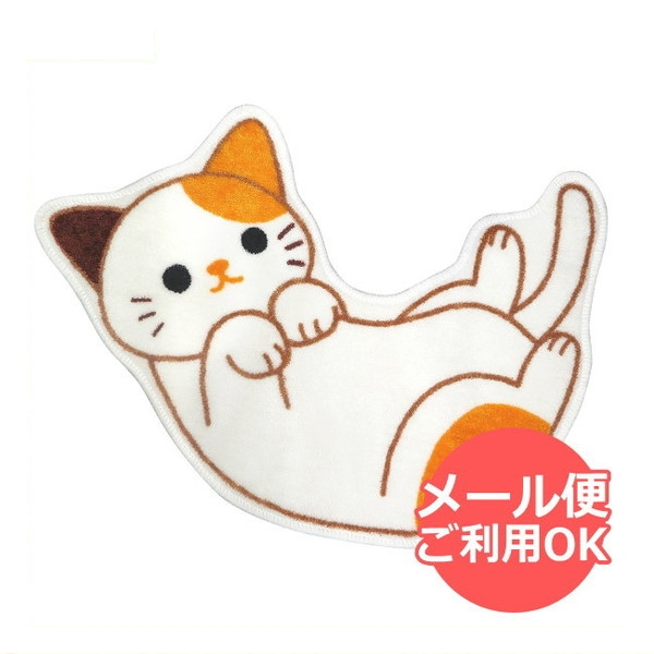 送料無料ライン対応ショップ ねこ キャラクター ネコ 送料無料限定セール中 大人気 子猫 猫 トイレマット ME217 ミケ マット ねこのトイレマット おしゃれ