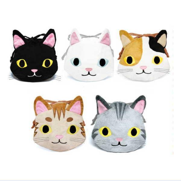 送料無料ライン対応ショップ ねこ キャラクター ネコ 子猫 猫 小物入れ RN-KI CAT マーケティング 巾着 REAL 安心と信頼 きんちゃく