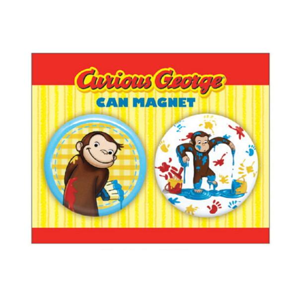 メール便可 3980円 以上で送料無料 セールsale Off キャラクター グッズ アニメ マグネット 磁石 Curious Cg Pm001 おさる のジョージ George ペンキ 缶マグネットセット 飾り