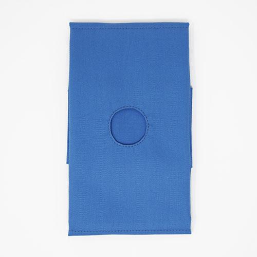 布(かつらぎ)ドレープ ○穴 カラー: 青 布サイズ: 60×60cm ( 選べる〇穴サイズ:φ3cm ・ φ4cm )