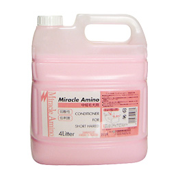 開催中 定番のミラクルシリーズ アミノ酸系界面活性剤で作られた低刺激コンディショナー ミラクルアミノHGコンディショナー 輸入 4L