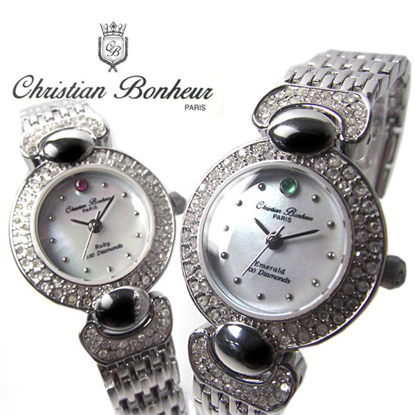 Luxury jewelry with a differential form Christian Bonheur natural diamond 100 stones watch CB11452 watch ladies watch watch popular ranking winners waterproof popular 02P22Nov13