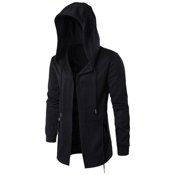 カジュアル フードコート/メンズ スリムフィット デザイン ジャケット フードコート きれい目 彼氏 男性 men's