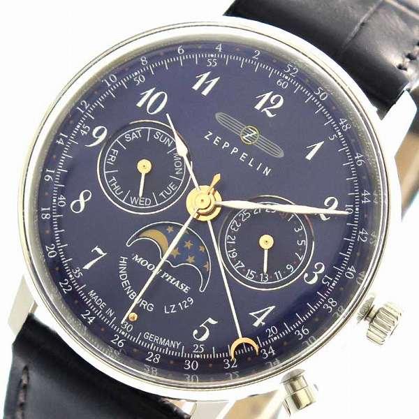 腕時計 レディース ツェッペリン ZEPPELIN 7037-3 クォーツ ネイビー ネイビー