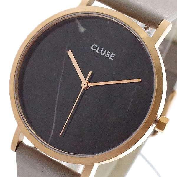 腕時計 レディース クルース CLUSE CL40006 クォーツ ブラックマーブル グレー ブラックマーブル