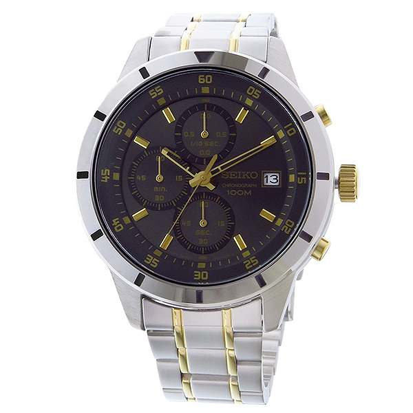 Watch men SEIKO SEIKO Kurono quartz SKS565P1 black / gold