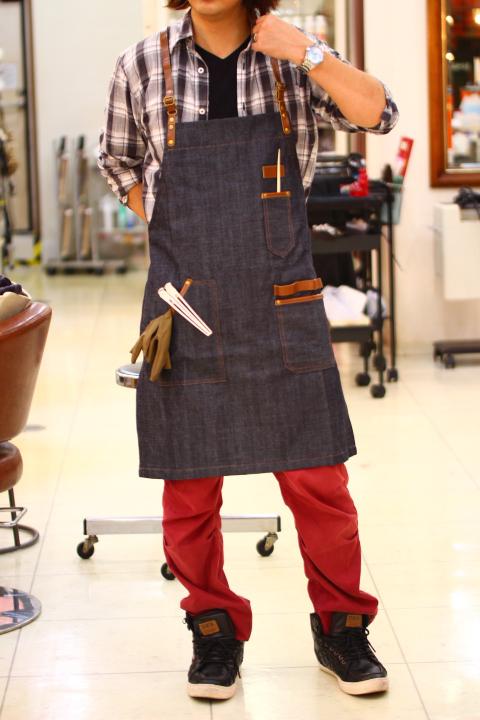 「 ヘアーサロン エプロン 」 カラー 美容師 理容師 トリマー フローリスト 本革 レディース メンズ 男女兼用 おしゃれ かわいい