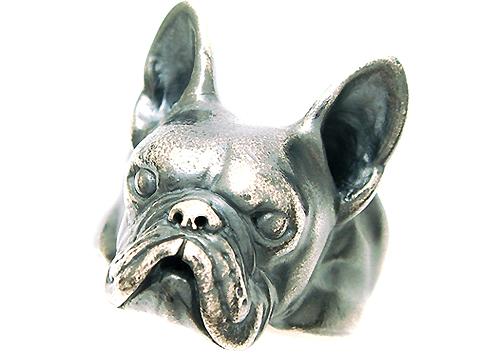 (大)フレンチブルドッグ・ボストンテリア・シルバーリング・犬・Dog Ring・アニマル・動物・銀・指輪・犬リング・シルバー925