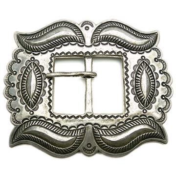 Perry shorty・ペリーショーティー・ナバホ族・コインシルバー・Coin silver・インディアンジュエリー バングル・シルバーバックル・スタンプワーク