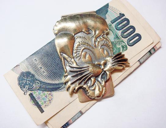 ストレイキャッツ☆ストレイ・キャッツ(Stray Cats)重厚☆真鍮マネークリップ☆ロカビリー