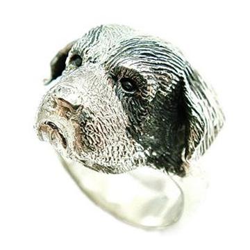 セントバーナード/St. Bernard/犬/シルバー925 リング 指輪 ドッグ Dog ring