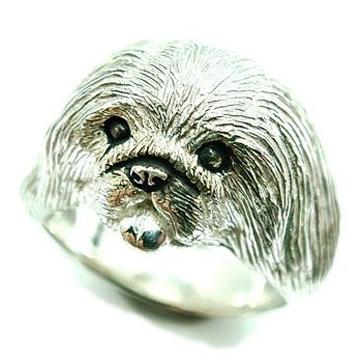 ペキニーズ/犬/シルバー925/リング/指輪/ドッグ/Dog/ring/犬リング/イヌリング/Silver925