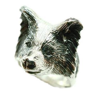 パピヨン/犬/シルバー925/リング/指輪/ドッグ/Dog/ring/犬リング/イヌリング/Silver925