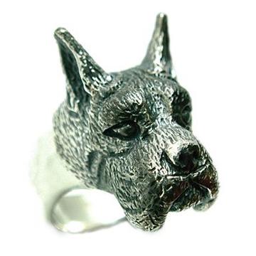 ボクサー/犬/シルバー925/リング/指輪/ドッグ/Dog/ring/犬リング/イヌリング/Silver925