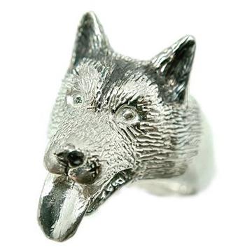 シベリアンハスキー/犬/シルバー925/リング/指輪/ドッグ/Dog/ring/犬リング/イヌリング/Silver925