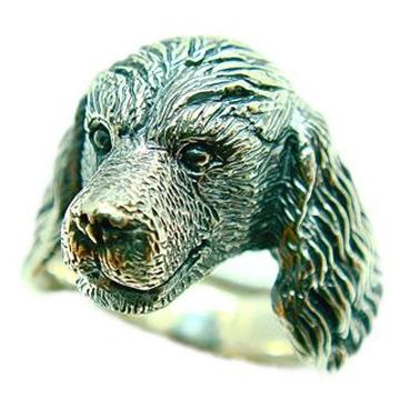 キャバリアキングチャールズスパニエル/犬/シルバー925/リング/指輪/ドッグ/Dog/ring/犬リング/イヌリング/Silver925