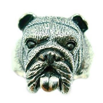 ブルドッグ/犬/シルバー925/リング/指輪/ドッグ/Dog/ring/犬リング/イヌリング/Silver925