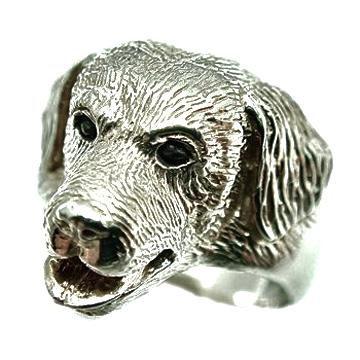 ゴールデンレトリバー/犬/シルバー925/リング/指輪/ドッグ/Dog/ring/犬リング/イヌリング/Silver925