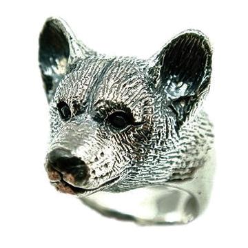 コーギー/犬/シルバー925/リング/指輪/ドッグ/Dog/ring/犬リング/イヌリング/Silver925