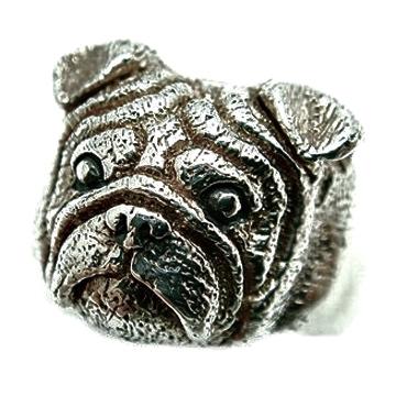 パグ/犬/シルバー925/リング/指輪/ドッグ/Dog/ring/犬リング/イヌリング/Silver925