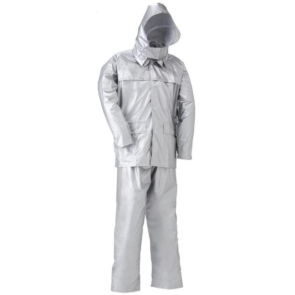 農薬散布用防護服 警備用レインコート 作業用レインウェア 作業用レインスーツ M