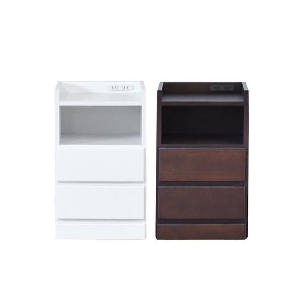 ナイトテーブル エッセ W37.5 WH ホワイト