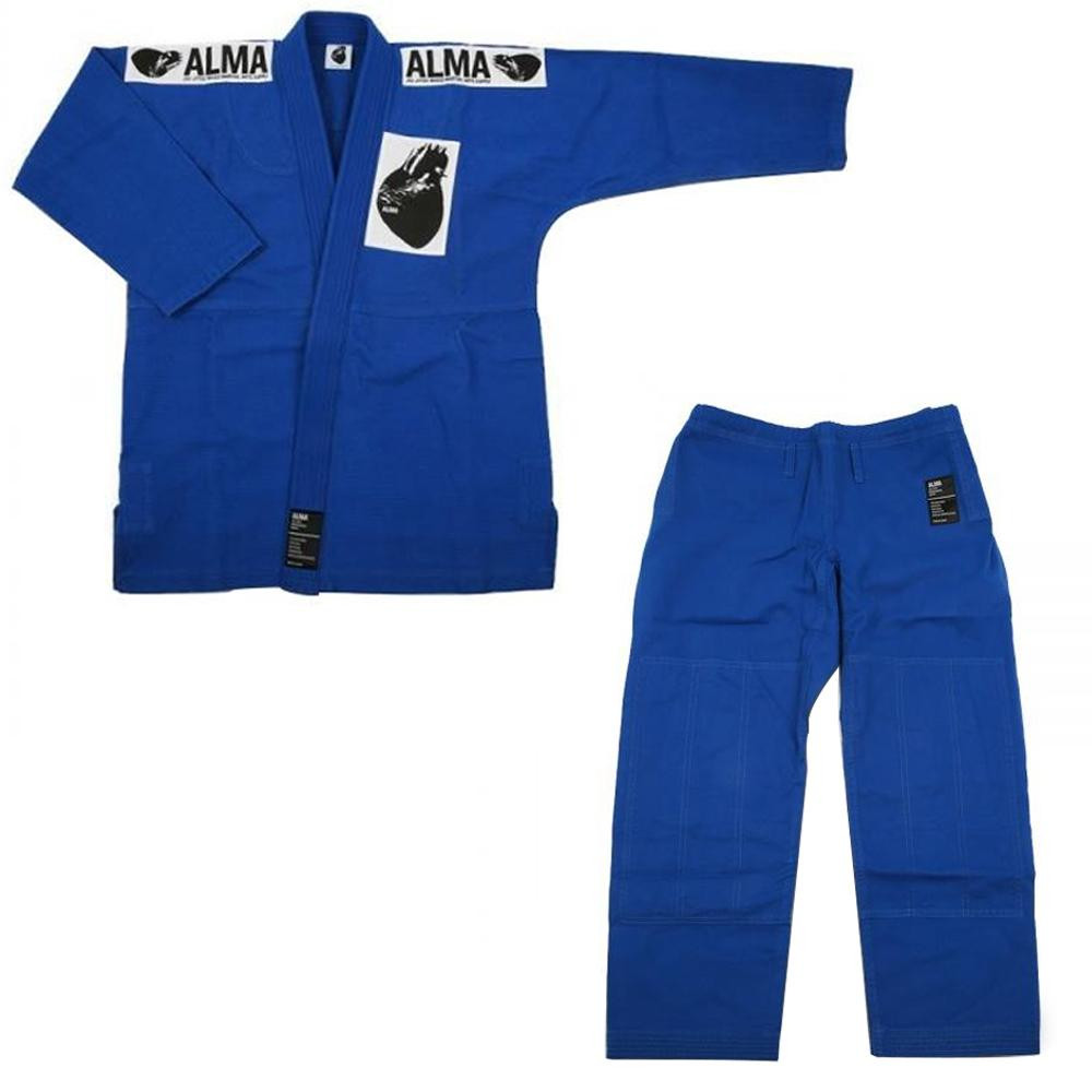 ALMA アルマ レギュラーキモノ 国産柔術衣 A1 青 上下 JU1-A1-BU