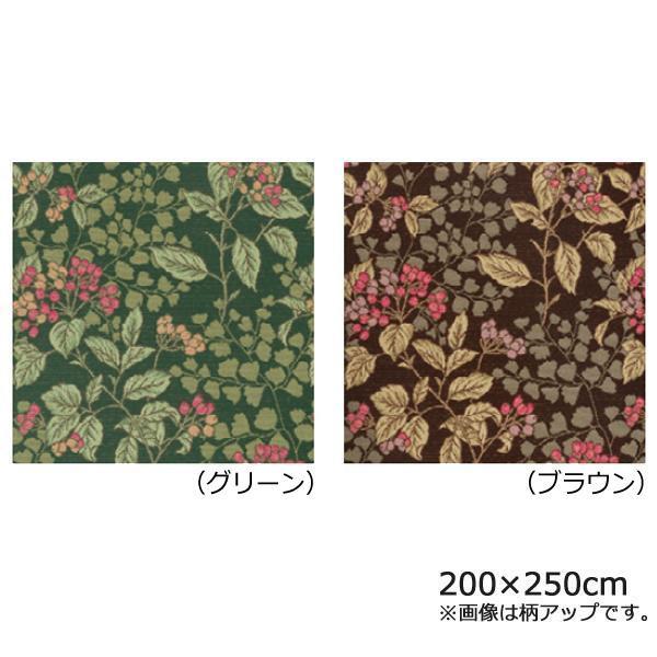 川島織物セルコン ジューンベリー マルチカバー 200×250cm HV1019S BR ブラウン