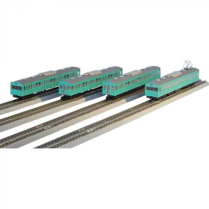 国鉄103系 エメラルドグリーン 常磐線タイプ 基本4両セット T022-9