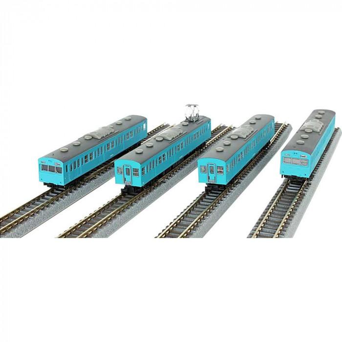 国鉄 103系 スカイブルー 低運転台タイプ 4両基本セット T022-12