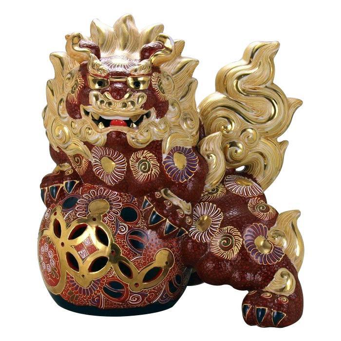 九谷焼 13号立獅子 盛 N195-07
