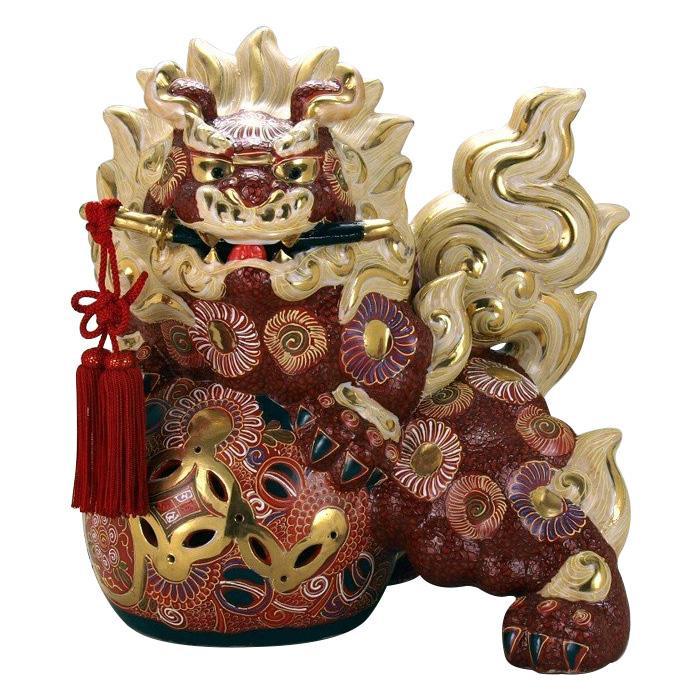 九谷焼 12号剣獅子 盛 N195-08